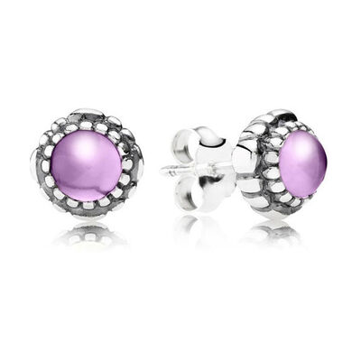 PANDORA Birthday Blooms February Earrings