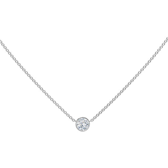 The Forevermark Tribute™ Collection Round Diamond Necklace 18K