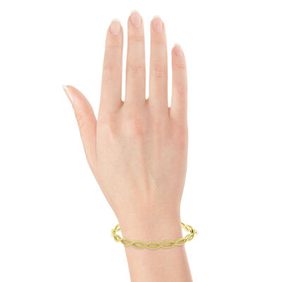 Roberto Coin Yellow Gold Barocco Bangle 18K