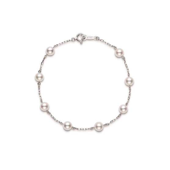 Mikimoto Akoya Cultured Pearl Bracelet, 5mm, A+, 18K