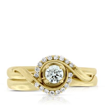 Diamond Bridal Set 14K,