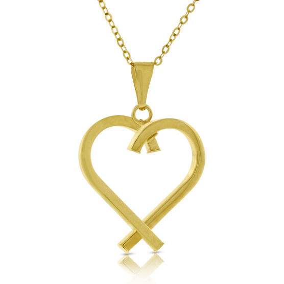 Open Heart Pendant 14K