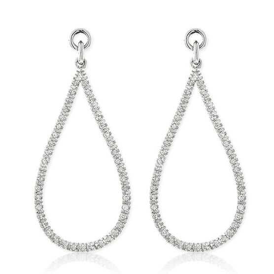 Diamond Tear Drop Earring Jackets 14K
