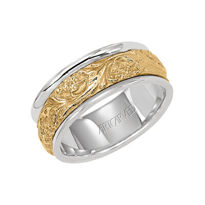 Men's ArtCarved Band 14K