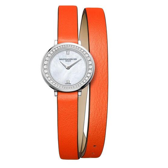 Baume & Mercier Petite PROMESSE Orange Strap Watch