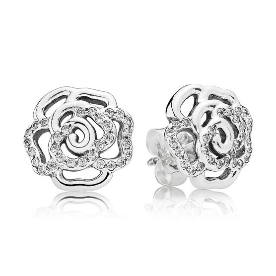 PANDORA Shimmering Rose Earrings