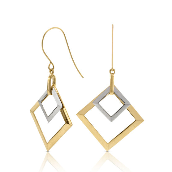 Square Earrings 14K