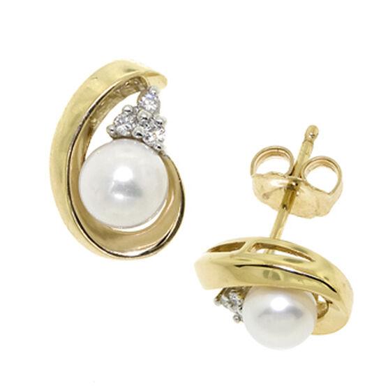 Freshwater Cultured Pearl Earrings 14K