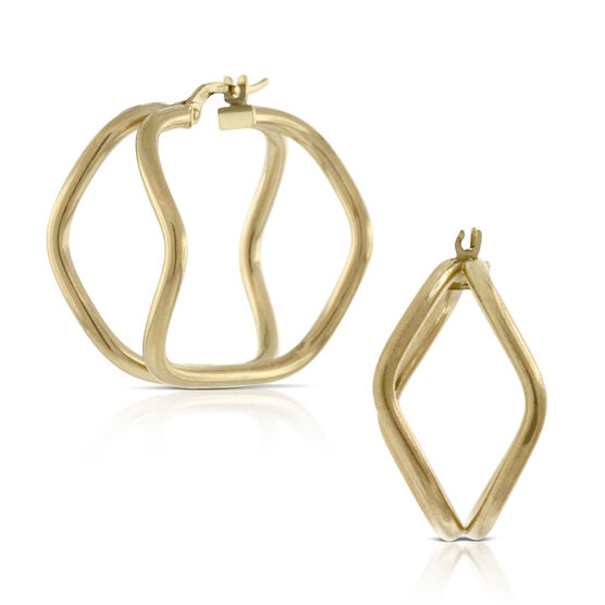Toscano Cushion Shaped Earrings 18K