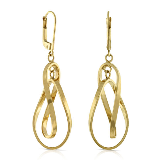 Toscano Twist Dangle Earrings 14K