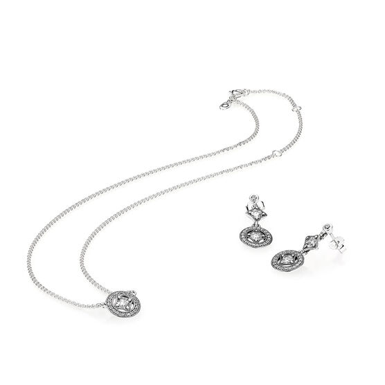 PANDORA Vintage Allure CZ Necklace & Earring Gift Set