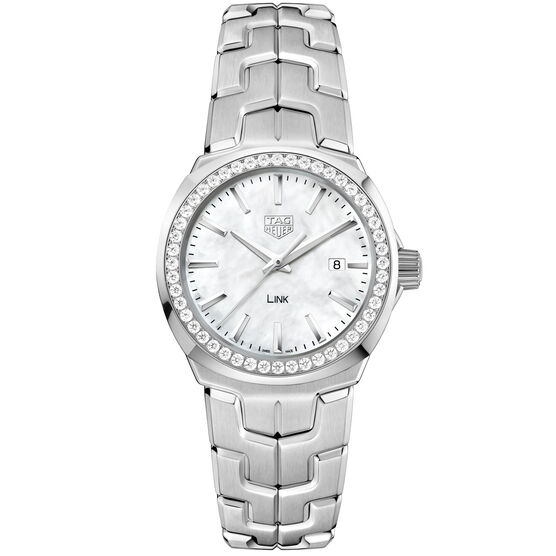 TAG Heuer Link  Diamond Bezel Quartz Watch, 32mm
