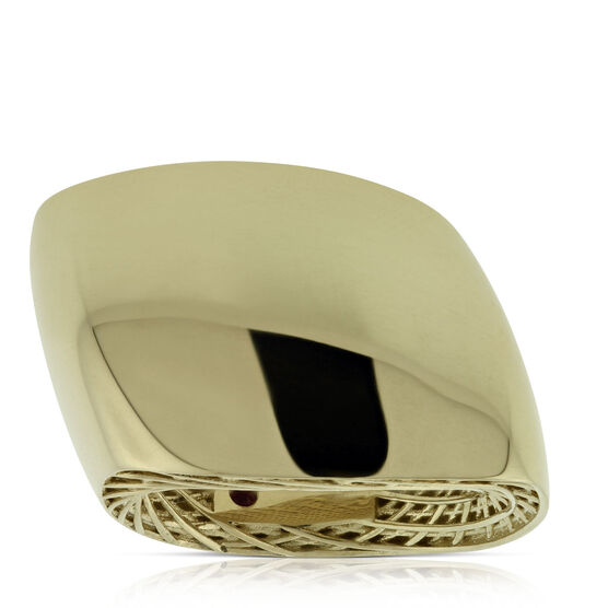 Roberto Coin Slanted Dome Ring 18K