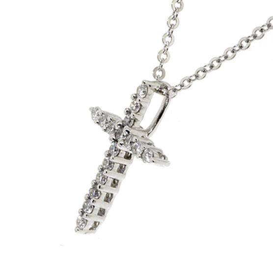 Diamond Cross Pendant 14K