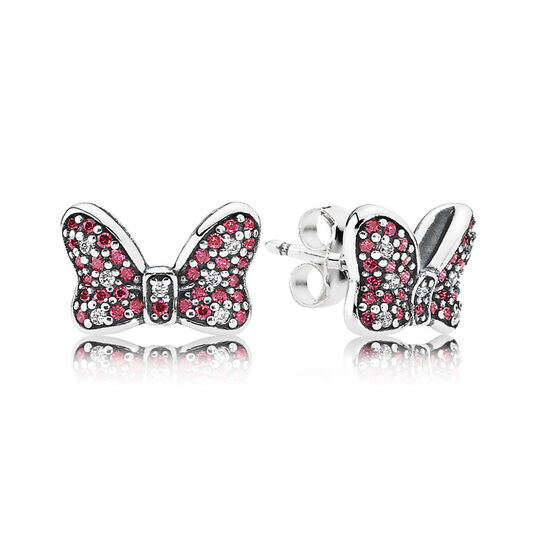 PANDORA Disney Minnie's Sparkling Bow Earrings