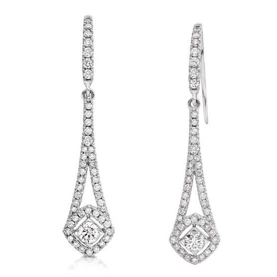 Forevermark Diamond Earrings 18K, 7/8 ctw.