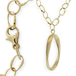 Toscano Collection Oval Drop Necklace 18K
