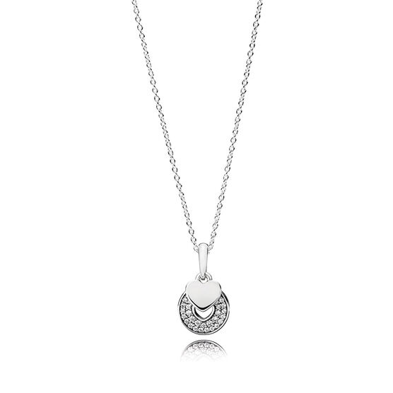 PANDORA Celebration Hearts CZ Necklace