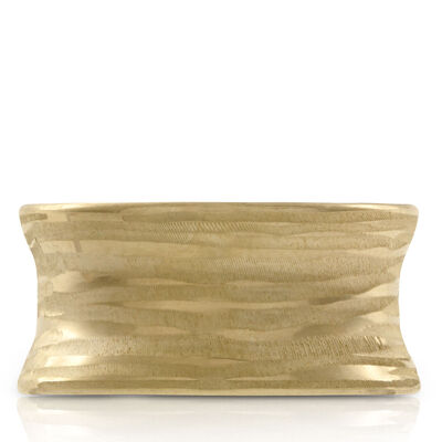 Toscano Textured Concave Ring 14K
