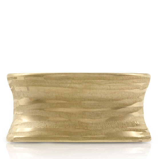 Toscano Collection Textured Concave Ring 14K