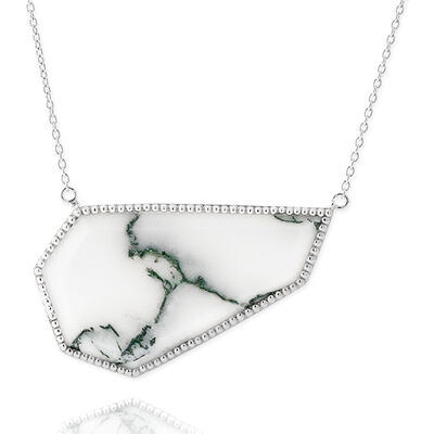 Lisa Bridge Angular Moss Agate Necklace