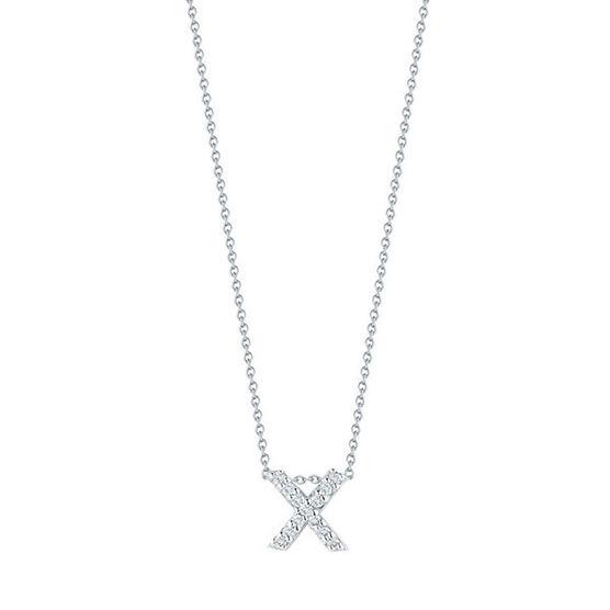 Roberto Coin Diamond Initial Pendant 18K Letter 'X'