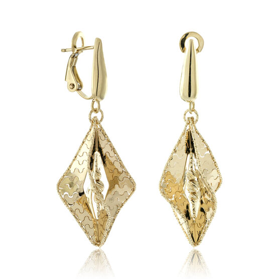 Toscano Fancy Drop Earrings 18K