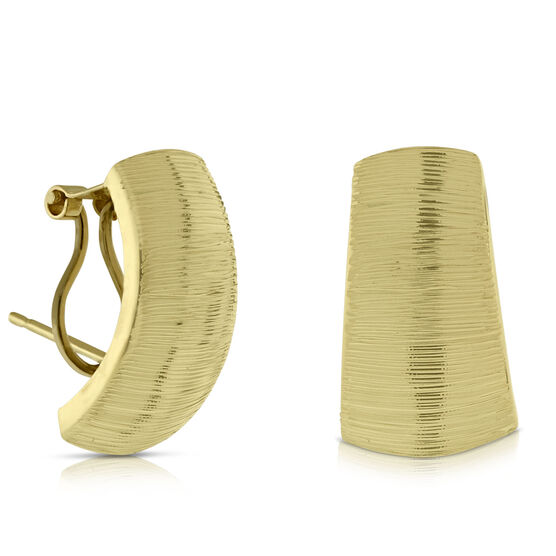 Satin Cuff Earrings 14K
