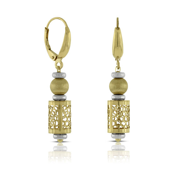 Toscano Barrel Earrings 14K