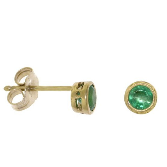 Emerald Earrings 14K