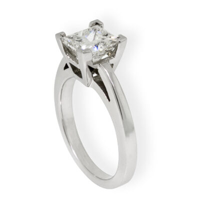 Princess Cut Diamond Solitaire Ring 14K, 2 ct.