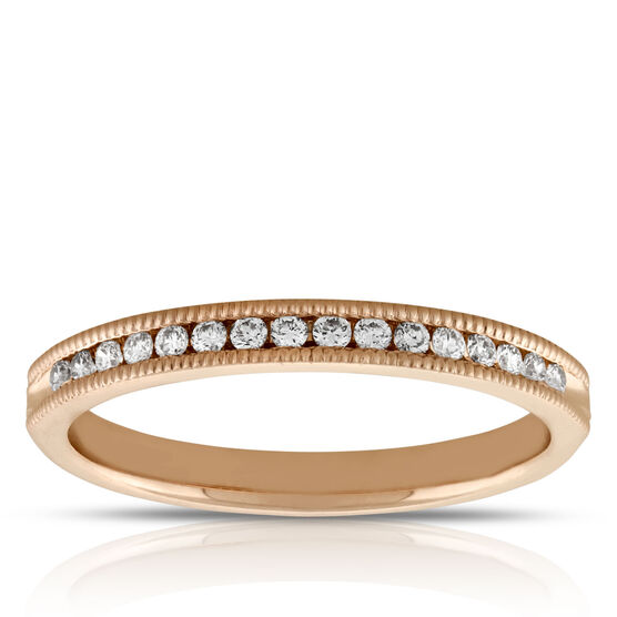 Diamond Band 1/7 ctw, 14K Rose