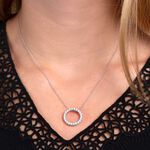 Diamond Circle Pendant 14K