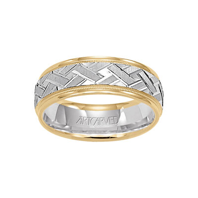 Men's Woven ArtCarved Band 14K