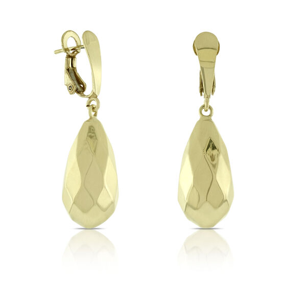 Toscano Pear Drop Earrings 14K
