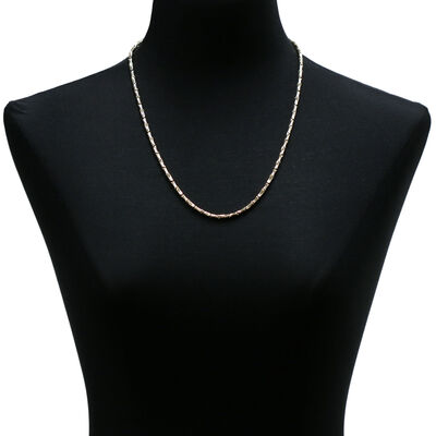 Toscano Stampato Link Necklace 14K