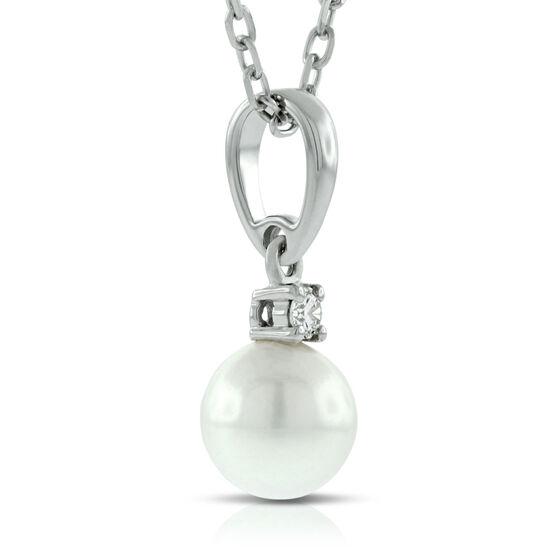 Mikimoto Akoya Cultured Pearl & Diamond Pendant, AA, 18K