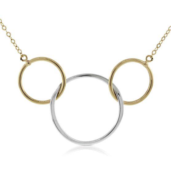 Triple Circle Necklace 14K