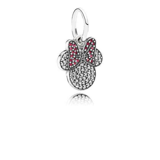 PANDORA Disney Sparkling Minnie Icon Charm