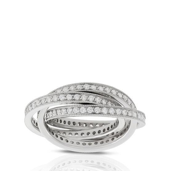 Diamond Rolling Ring in Platinum - Size 6.5