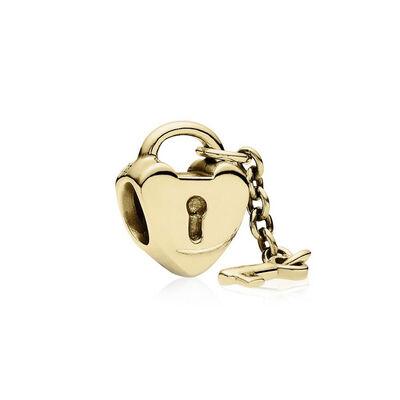 PANDORA Key To My Heart Charm 14K