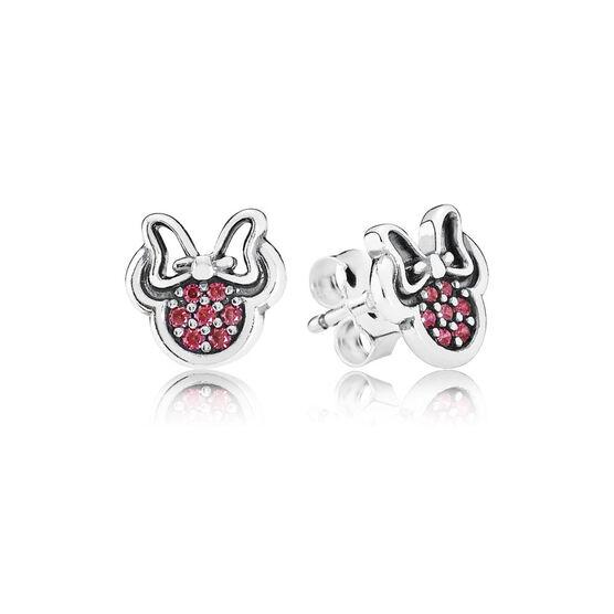 PANDORA Disney Sparkling Minnie Earrings
