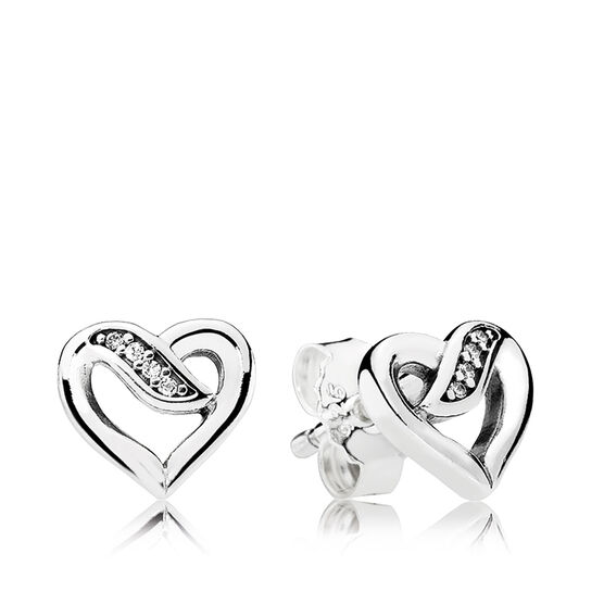 PANDORA Ribbons of Love CZ Earrings