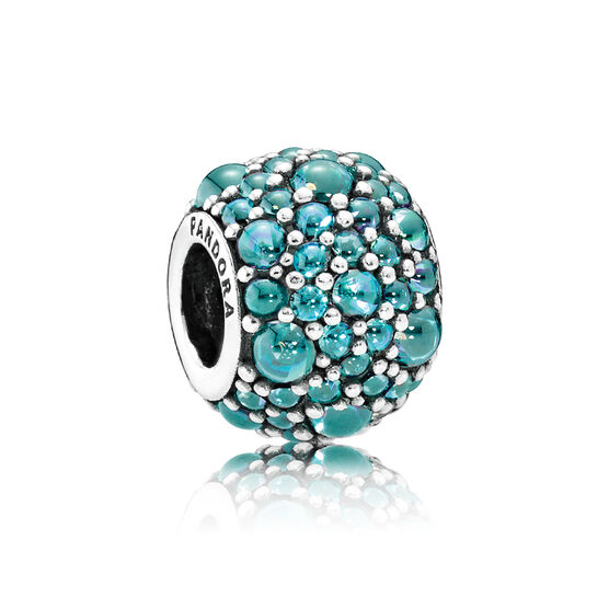 PANDORA Shimmering Droplets Teal CZ Charm