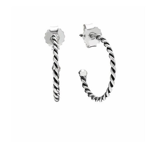 PANDORA Small Twist Hoop Earrings RETIRED