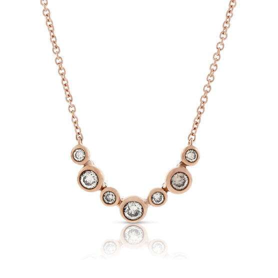 Brown Diamond Rose Gold Necklace 14K