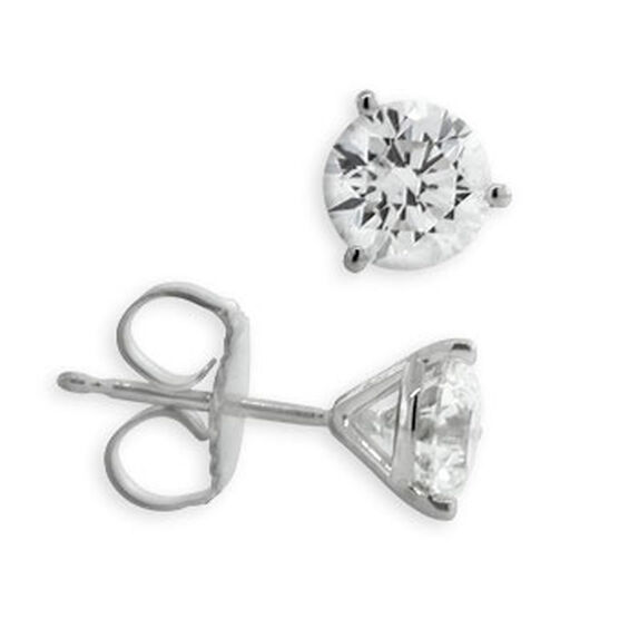 Forevermark Diamond Solitaire Earrings 14K, 1 & 3/8 ctw.