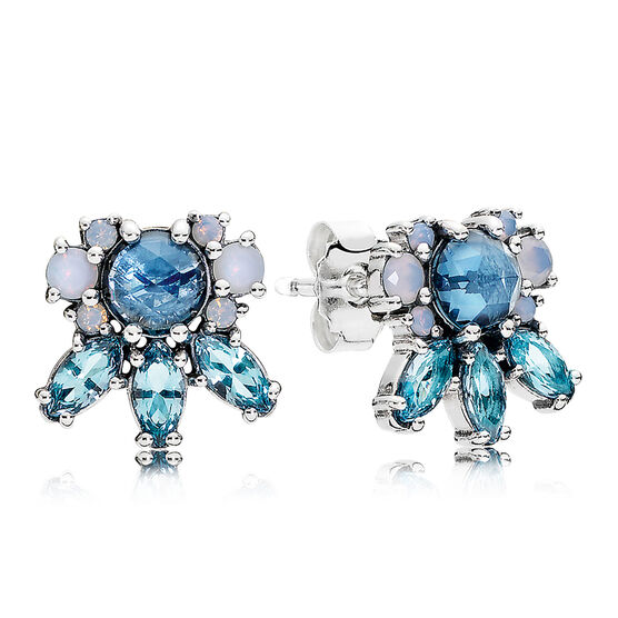PANDORA Patterns of Frost Earrings, Multi-Colored Crystals