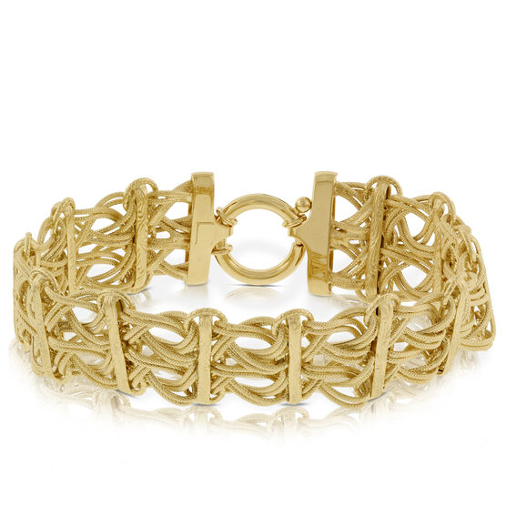 Toscano Collection Woven Link Bracelet 14K