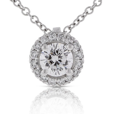 Signature Forevermark Diamond Center of My Universe Pendant 18K
